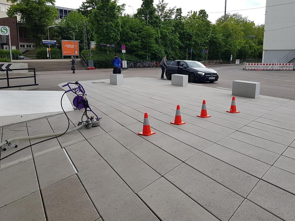 HDR Reinigung von Außenbereich in Stuttgart