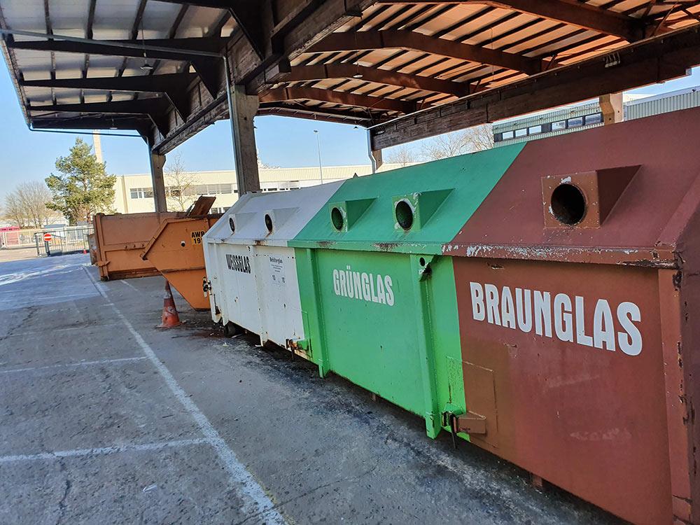 Container Reinigung Wertstoffhof