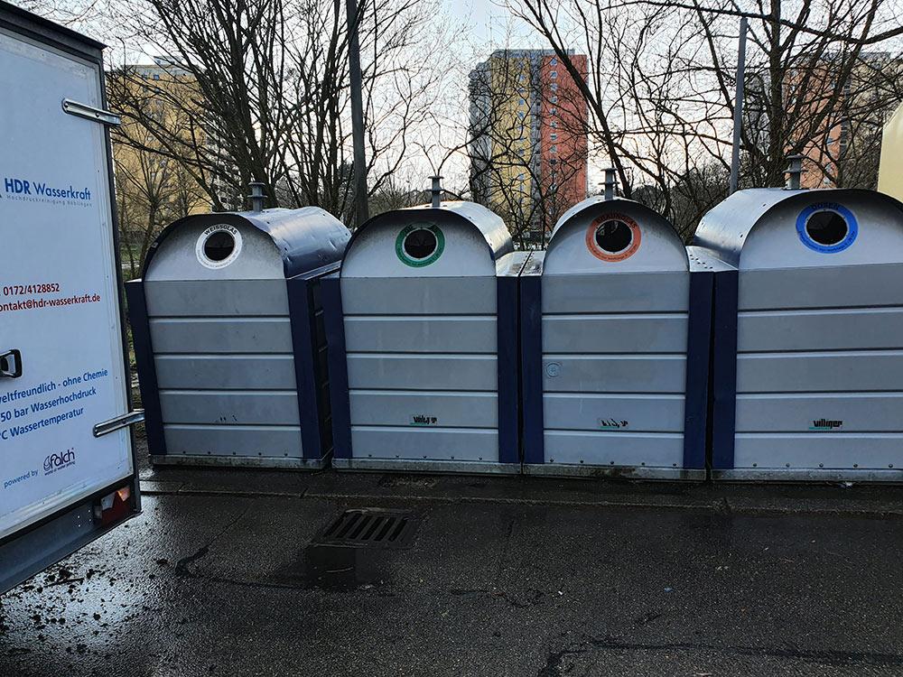 Verschmutzte Container reinigen lassen