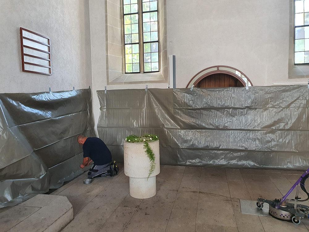 Innenreinigung Kirche
