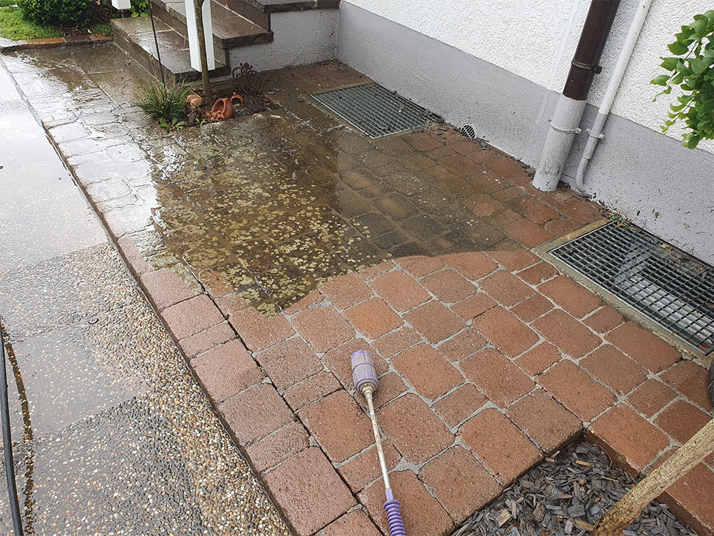 Steine und Platten Reinigung Tübingen